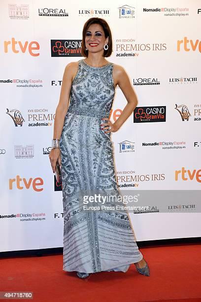 Silvia Jato attends XVII Iris TV Awards 2015 gala at Gran Casino on October 22 2015 in Aranjuez Spain
