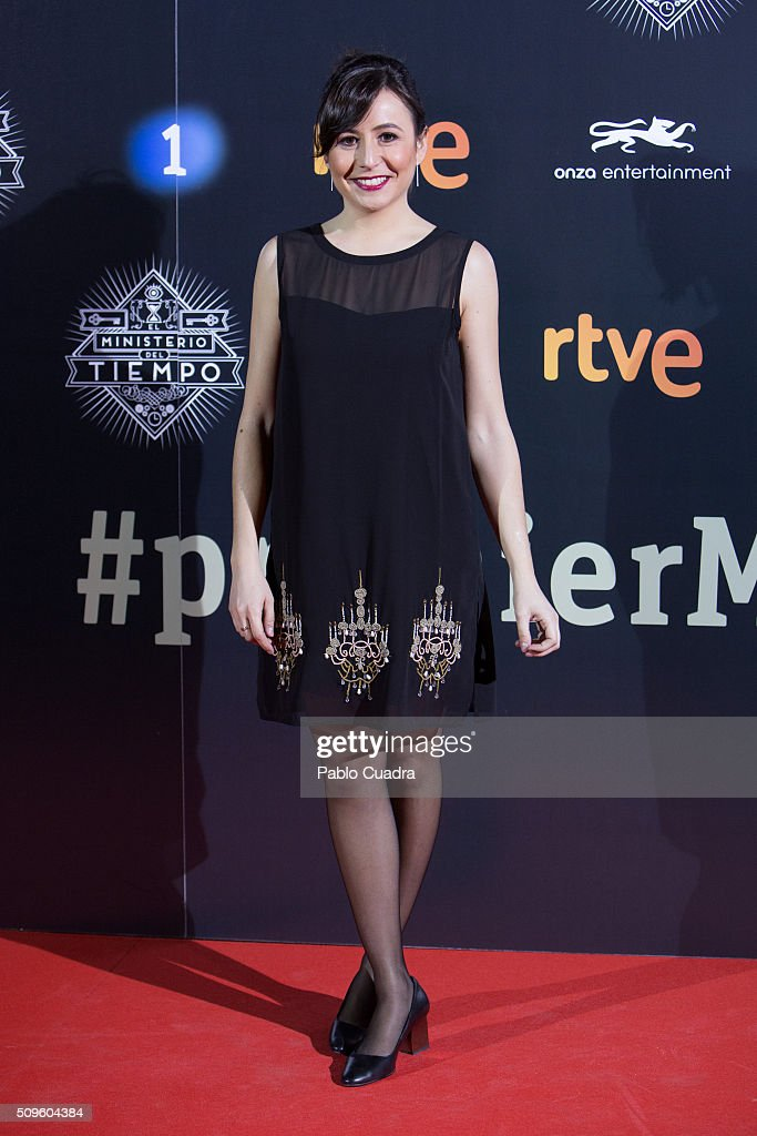 Silvia Laplana attends the 'El Ministerio del Tiempo' season 2 premiere at Capitol Cinema on February 11, 2016 in Madrid, Spain.