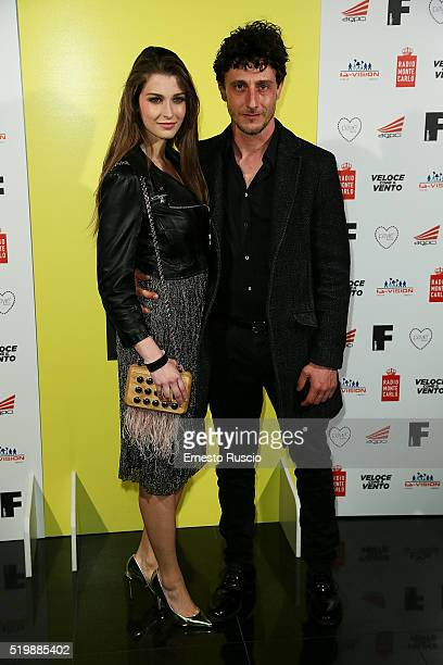 Silvia Mazzieri and Alfio Sorbello attend the 13rd Fabrique Du Cinema Presentation at Capitol Club on April 8 2016 in Rome Italy