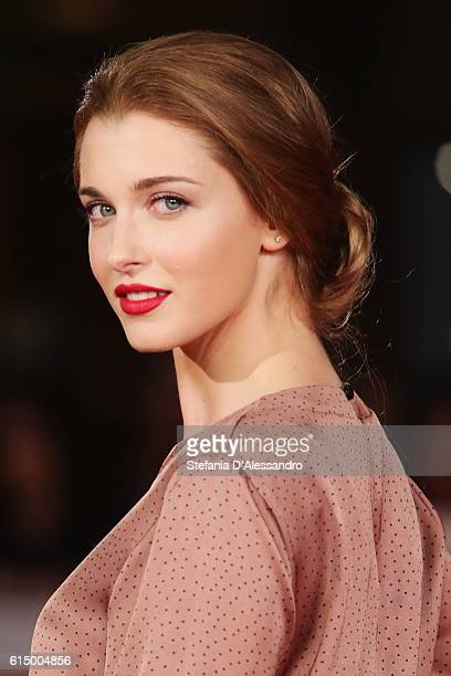 Silvia Mazzieri walks a red carpet for 'Sole Cuore Amore' during the 11th Rome Film Festival at Auditorium Parco Della Musica on October 15 2016 in...