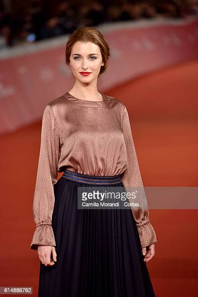 Silvia Mazzieri walks a red carpet for 'Sole Cuore Amore' on October 15 2016 in Rome Italy