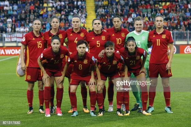 Silvia Meseguer of Spain women Marta Torrejon of Spain women Irene Paredes of Spain women Andrea Pereira of Spain women Jennifer Hermoso of Spain...