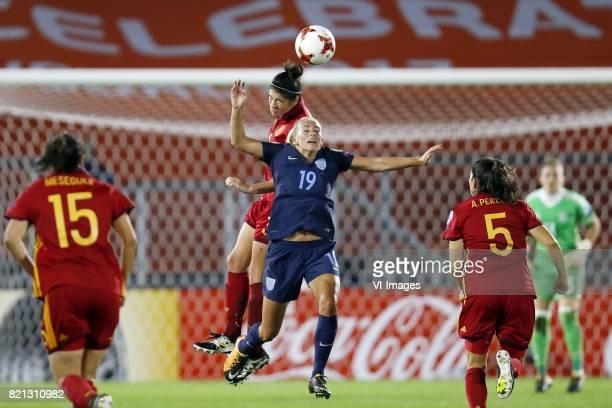 Silvia Meseguer of Spain women Marta Torrejon of Spain women Toni Duggan of England women Andrea Pereira of Spain women during the UEFA WEURO 2017...