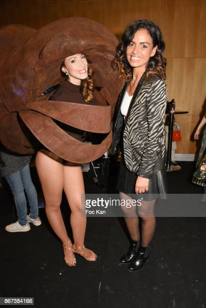 Silvia Notargiacomo and Laurence Roustandjee attend the 'Salon Du Chocolat 2017 Chocolate Fair' Auction Show in Benefit of Mecenat Chirurgie...