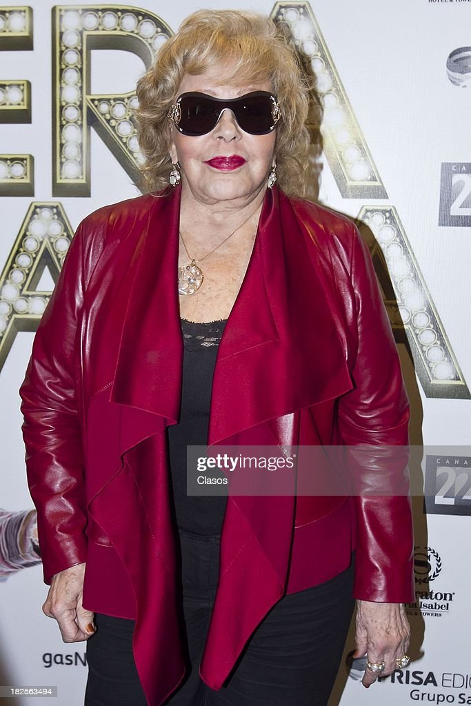 Silvia Pinal poses during a press conference of te Mexican film Tercera Llamada at the Maria Isabel Sheraton Hotel on September 30, 2013 in Mexico City, Mexico.