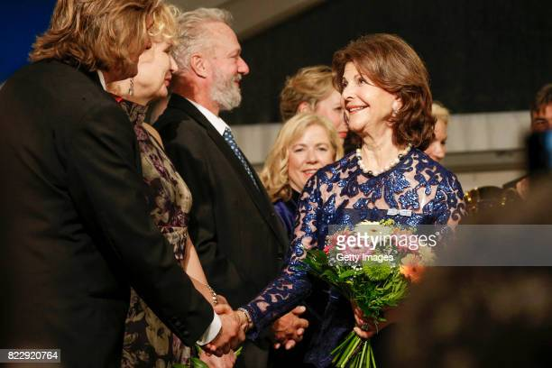 Silvia Queen of Sweden during the Bayreuth Festival 2017 State Reception at Neues Schloss on July 25 2017 in Bayreuth Germany