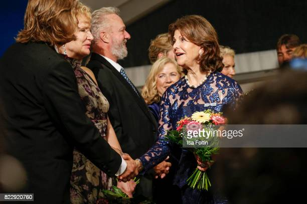 Silvia Queen of Sweden during the Bayreuth Festival 2017 State Reception on July 25 2017 in Bayreuth Germany