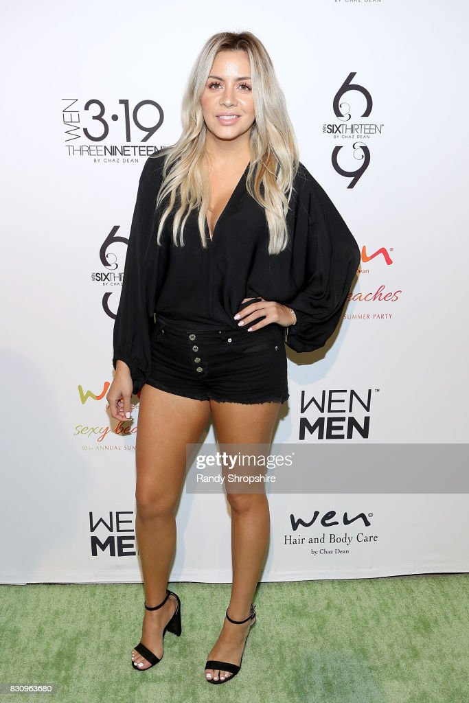 Silvia Reis attends Chaz Dean summer party benefiting Love Is Louder on August 12, 2017 in Los Angeles, California.