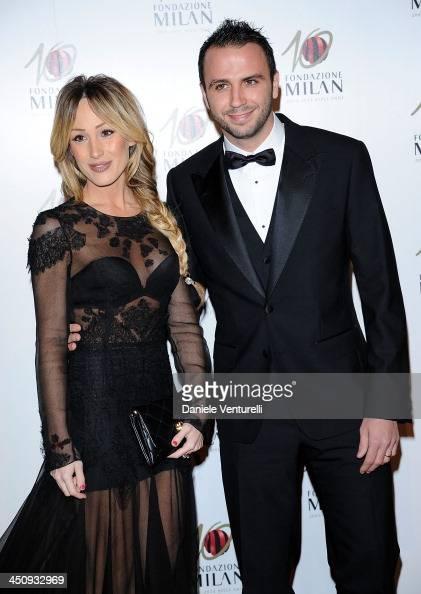 Silvia Slitti and Giampaolo Pazzini attend Fondazione Milan 10th Anniversary Gala on November 20 2013 in Milan Italy