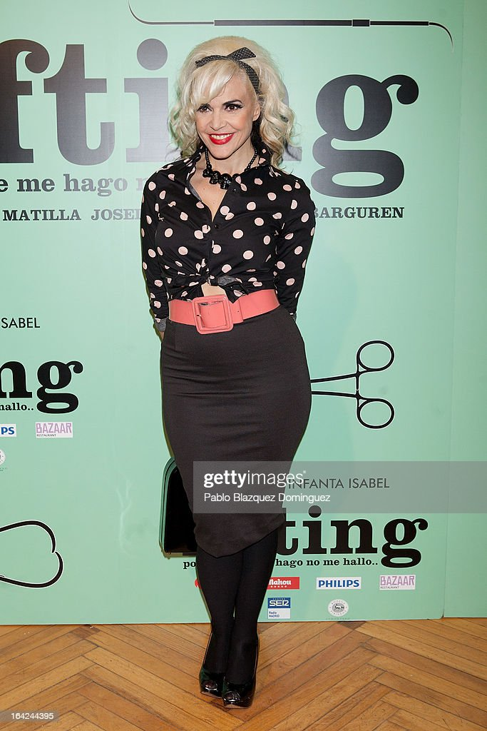 Silvia Superstar attends the 'Lifting' premiere at Infanta Isabel Theatre on March 21, 2013 in Madrid, Spain.
