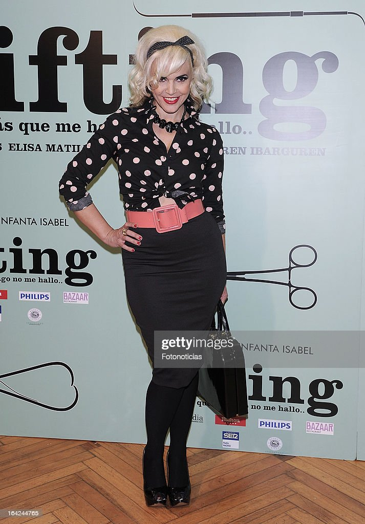 Silvia Superstar attends the premiere of 'Lifting' at the Infanta Isabel theatre on March 21, 2013 in Madrid, Spain.