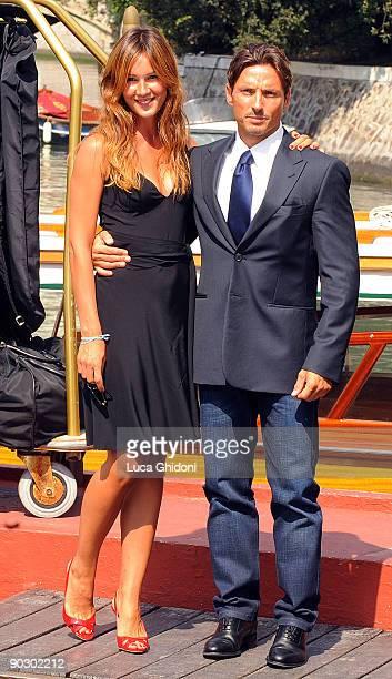 Silvia Toffanin and Piersilvio Berlusconi are seen at the Venice Film Festival on September 2 2009 in Venice Italy
