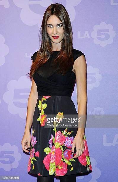 Silvia Toffanin attends Fashion Style TV Show Photocall on November 4 2013 in Milan Italy