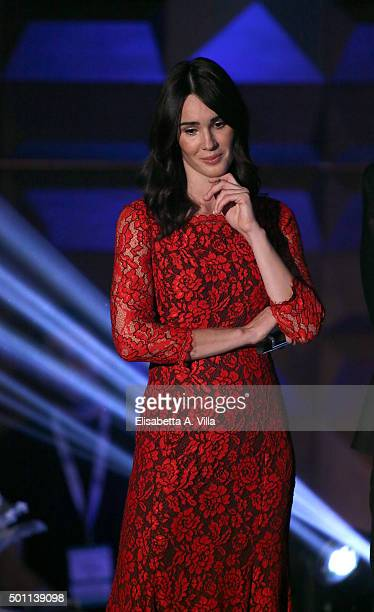 Silvia Toffanin attends the 23rd Christmas Concert at Auditorium Conciliazione on December 12 2015 in Rome Italy