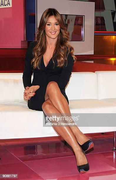 Silvia Toffanin attends 'Verissimo' Italian Tv Show Photocall on September 17 2009 in Milan Italy