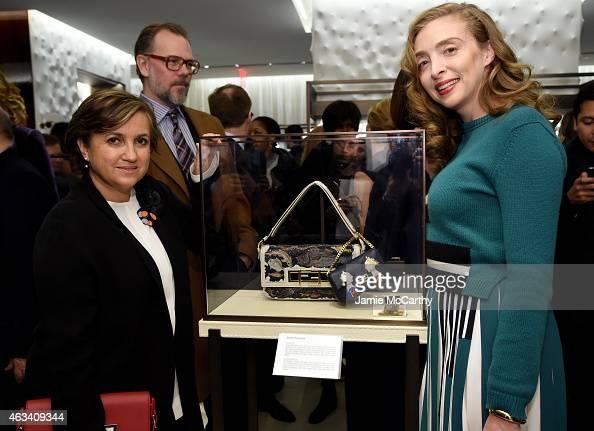 Silvia Venturini Fendi and Rachel Feinstein attend FENDI celebrates the opening of the New York flagship store on February 13 2015 in New York City