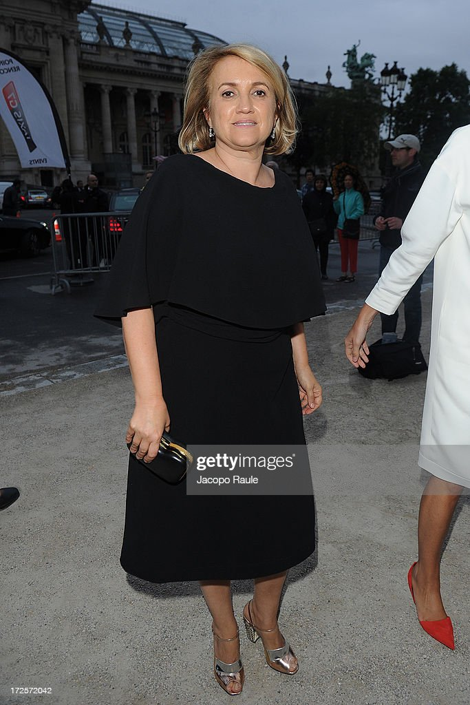 Silvia Venturini Fendi arrives at 'The Glory Of Water' : Karl Lagerfeld's Exhibition Dinner at Fendi on July 3, 2013 in Paris, France.