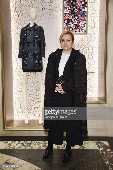 Silvia Venturini Fendi attends Palazzo FENDI And ZUMA Inauguration on March 10 2016 in Rome Italy