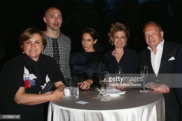 Silvia Venturini Fendi guest Delfina Delettrez Fendi guest and Ermanno Scervino attend the Conde' Nast International Luxury Conference Welcome...