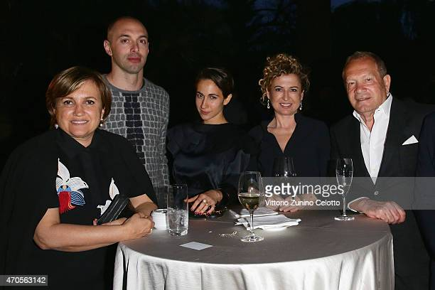Silvia Venturini Fendi guest Delfina Delettrez Fendi guest and Ermanno Scervino attend the Conde' Nast International Luxury Conference Welcome...
