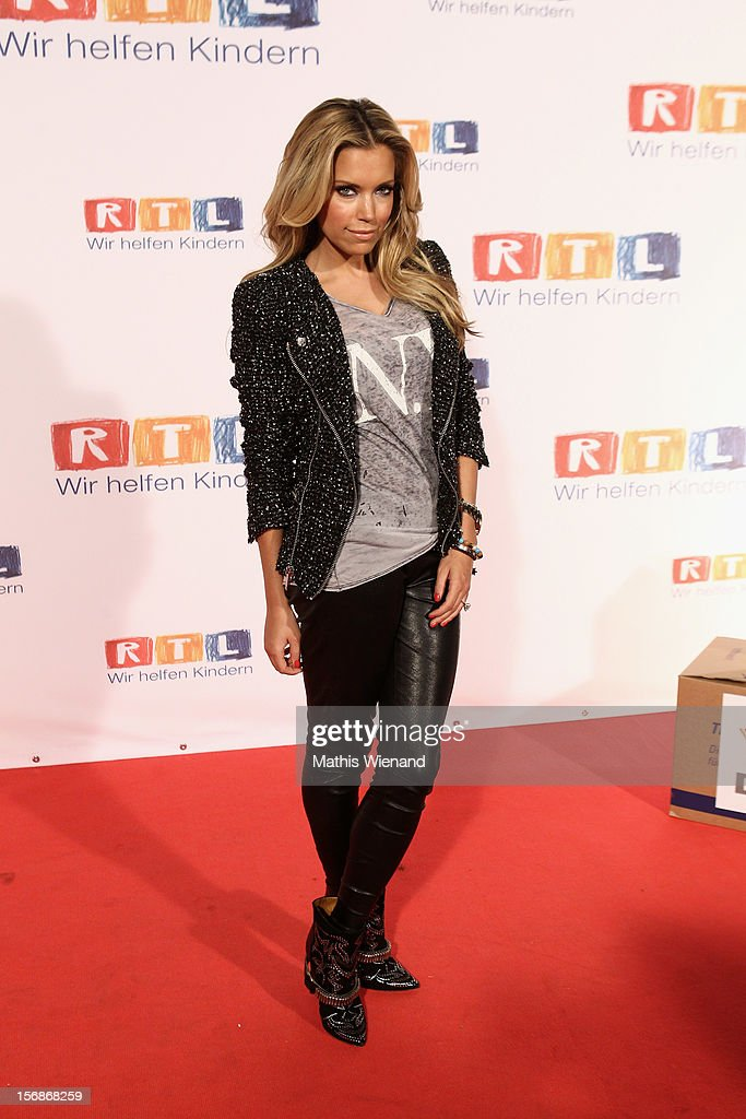 Silvie van der Vaart attends the 'RTL Spendenmarathon' at RTL Studios on November 23, 2012 in Cologne, Germany.