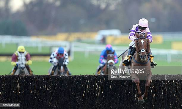 Silviniaco Conti ridden by Noel Fehily wins the Betfair Chase on November 22 2014 in Haydock England