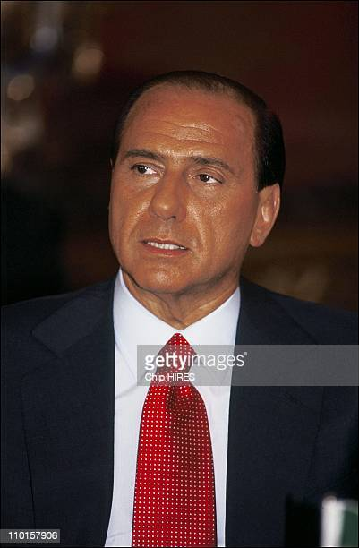 Silvio Berlusconi at the Summit of G7 in Naples Italy in July 1994