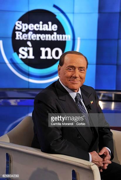 Silvio Berlusconi attends 'Porta A Porta' on November 30 2016 in Rome Italy