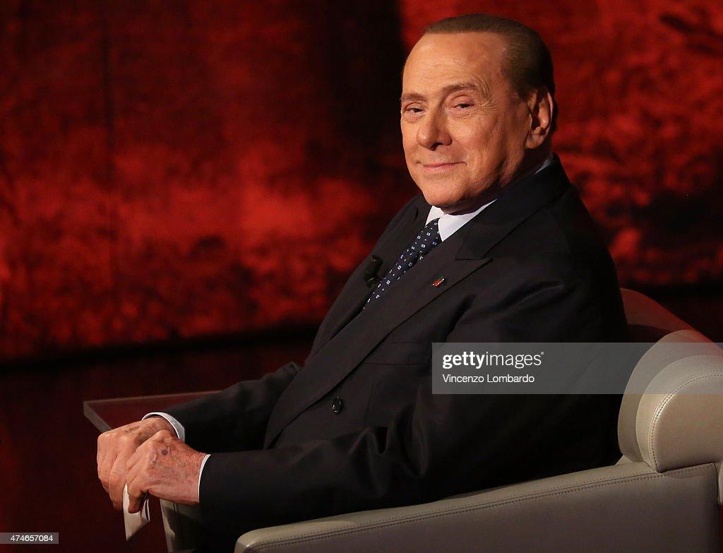 <a gi-track='captionPersonalityLinkClicked' href=/galleries/search?phrase=Silvio+Berlusconi&family=editorial&specificpeople=201842 ng-click='$event.stopPropagation()'>Silvio Berlusconi</a> attends the 'Che Tempo Che Fa' TV Show on May 24, 2015 in Milan, Italy.