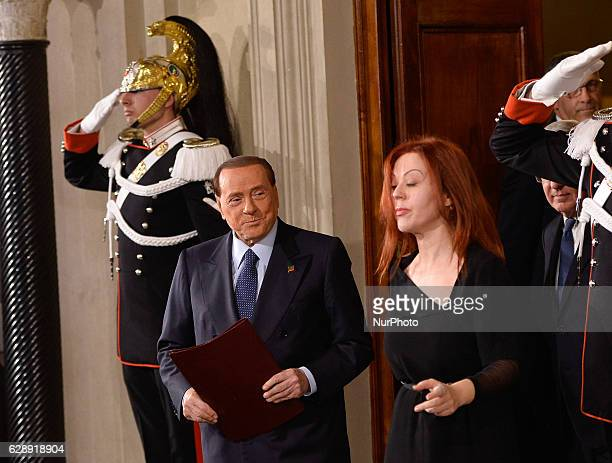 Silvio Berlusconi during politics consultations after the resignation of government Renzi on December 10 2016 at the Quirinale Palace in Rome Italian...