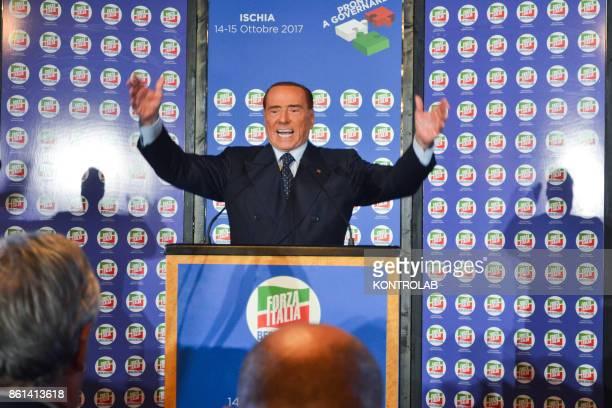 Silvio Berlusconi in Ischia southern Italy during the convention of Forza Italia