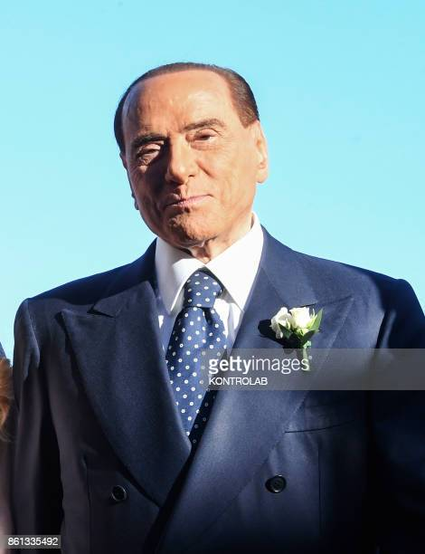 Silvio Berlusconi in Ravello at the wedding of Marianna Pascale