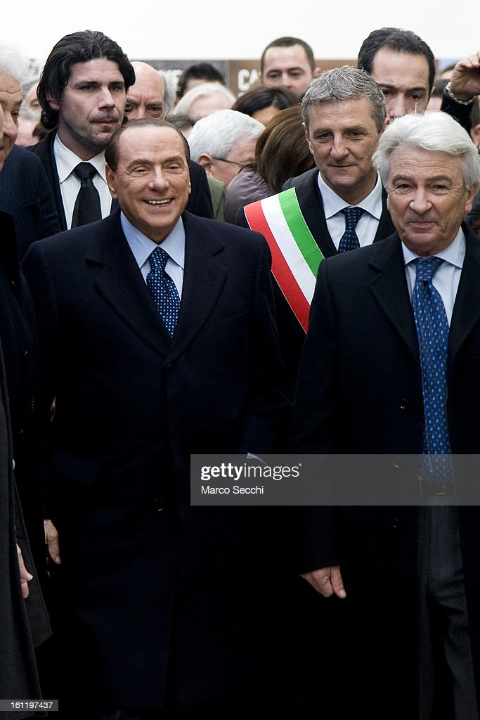 Silvio Berlusconi visits two factories in the Venice Province while campaigning in the Venice Province on February 9, 2013 in Venice, Italy. The former Italian prime minister will lead his centre-right coalition during the Italian elections scheduled for February 24.