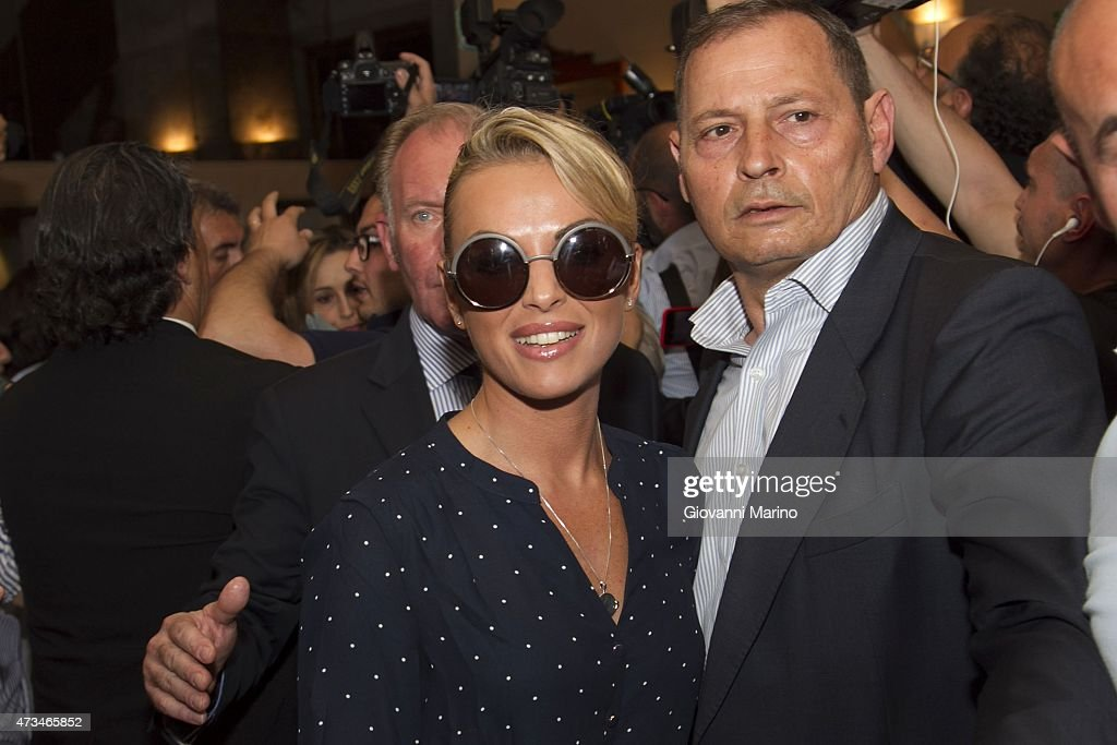 Silvio Berlusconi's girlfriend <a gi-track='captionPersonalityLinkClicked' href=/galleries/search?phrase=Francesca+Pascale&family=editorial&specificpeople=10015825 ng-click='$event.stopPropagation()'>Francesca Pascale</a> leaves from Hotel Palace on May 15, 2015 in Bari, Italy. Berlusconi is visiting the Puglia Region to support Adriana Poli Bortone in the regional elections.