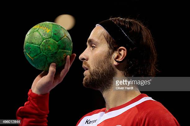 Silvio Heinevetter of Germany during the Handball Supercup between Germany and Brazil on November 6 2015 in Flensburg Germany