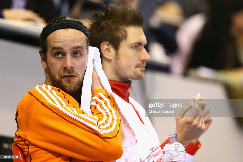 Silvio Heinevetter of Germany looks dejected during the quarterfinal match between Spain and Germany at Pabellon Principe Felipe Arena on January 23, 2013 in Barcelona, Spain.