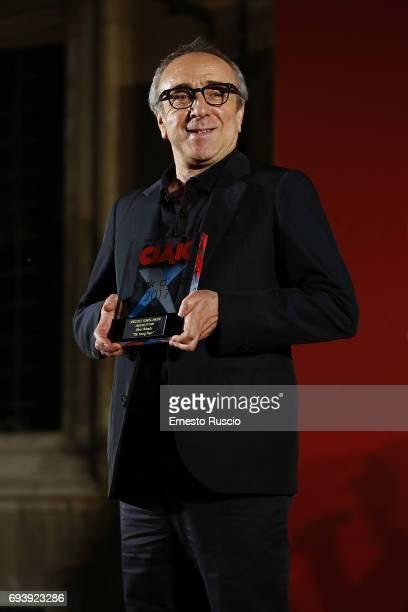 Silvio Orlando recives the Ciak D'Oro 2017 award at Link Campus University on June 8 2017 in Rome Italy