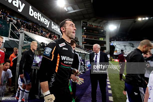 Silvio Proto goalkeeper of KV Oostende pictured during the Jupiler Pro League match between RSC Anderlecht and KV Oostende at the Constant Vanden...
