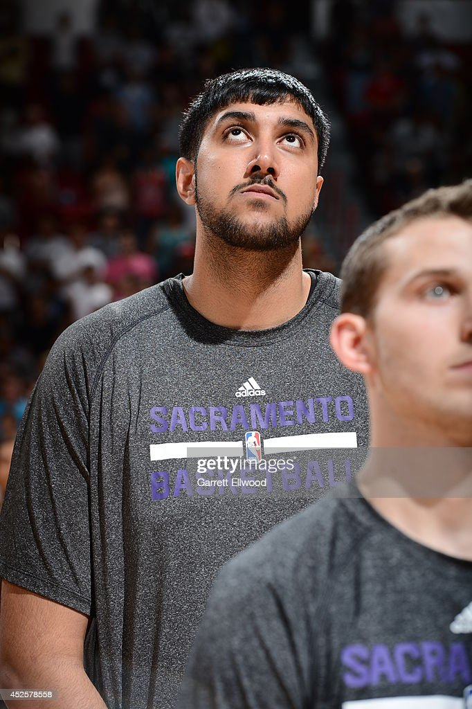 <a gi-track='captionPersonalityLinkClicked' href=/galleries/search?phrase=Sim+Bhullar&family=editorial&specificpeople=10041965 ng-click='$event.stopPropagation()'>Sim Bhullar</a> #55 of the Sacramento Kings looks on during the Samsung NBA Summer League 2014 on July 21, 2014 at the Thomas & Mack Center in Las Vegas, Nevada.