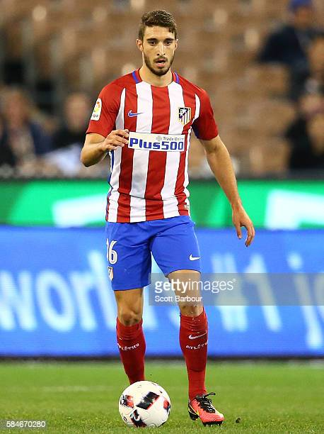 Sime Vrsaljko of Atletico de Madrid controls the ball during 2016 International Champions Cup Australia match between Tottenham Hotspur and Atletico...
