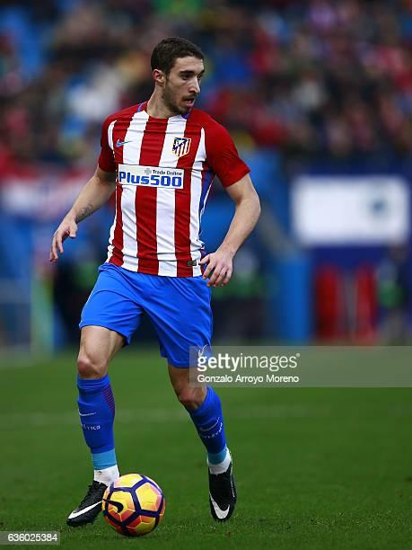Sime Vrsaljko of Atletico de Madrid controls the ball during the La Liga match between Club Atletico de Madrid and UD Las Palmas at Vicente Calderon...