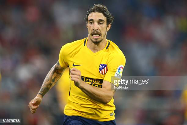 Sime Vrsaljko of Atletico de Madrid during the Audi Cup 2017 match between Liverpool FC and Atletico Madrid at Allianz Arena on August 2 2017 in...