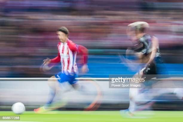 Sime Vrsaljko of Atletico de Madrid in action during their 201617 UEFA Champions League Round of 16 second leg match between Atletico de Madrid and...