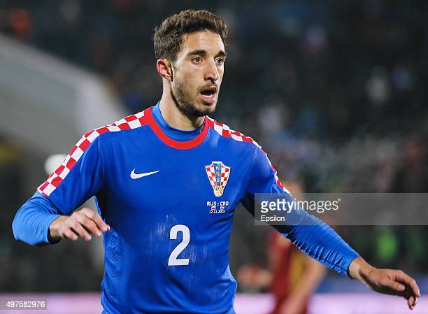 Sime Vrsaljko of Croatia in action during international friendly football match between Russia and Croatia at Olymp II stadium on November 17 2015 in...