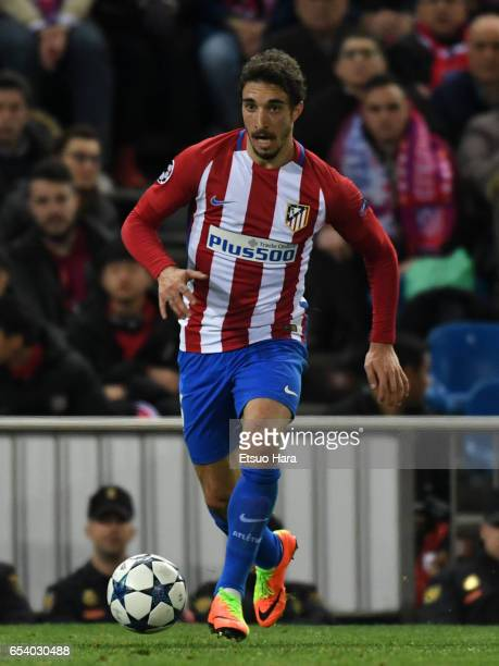Sime Vrsaljko of Diego Godin in action during the UEFA Champions League Round of 16 second leg match between Club Atletico de Madrid and Bayer...