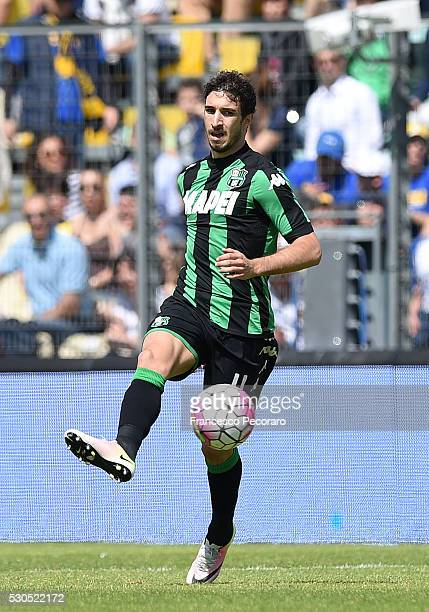 Sime Vrsaljko of Sassuolo in action during the Serie A match between Frosinone Calcio and US Sassuolo calcio at Stadio Matusa on May 8 2016 in...