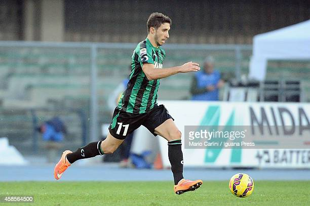 Sime Vrsaljko of US Sassuolo Calcio in action during the Serie A match between AC Chievo Verona and US Sassuolo Calcio at Stadio Marc'Antonio...