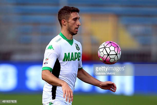 Sime Vrsaljko of US Sassuolo Calcio in action during the Serie A match between Empoli FC and US Sassuolo Calcio at Stadio Carlo Castellani on October...