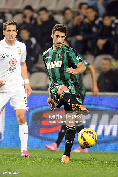 Sime Vrsaljko of US Sassuolo Calcio in action during the Serie A match between US Sassuolo Calcio and Hellas Verona FC on November 29 2014 in Reggio...