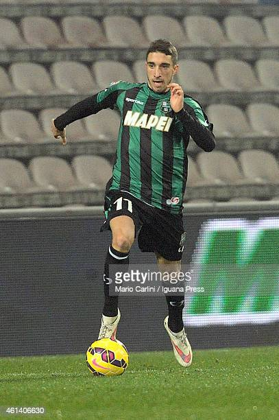 Sime Vrsaljko of US Sassuolo Calcio in action during the Serire A match between US Sassuolo Calcio and Udinese Calcio on January 10 2015 in Reggio...